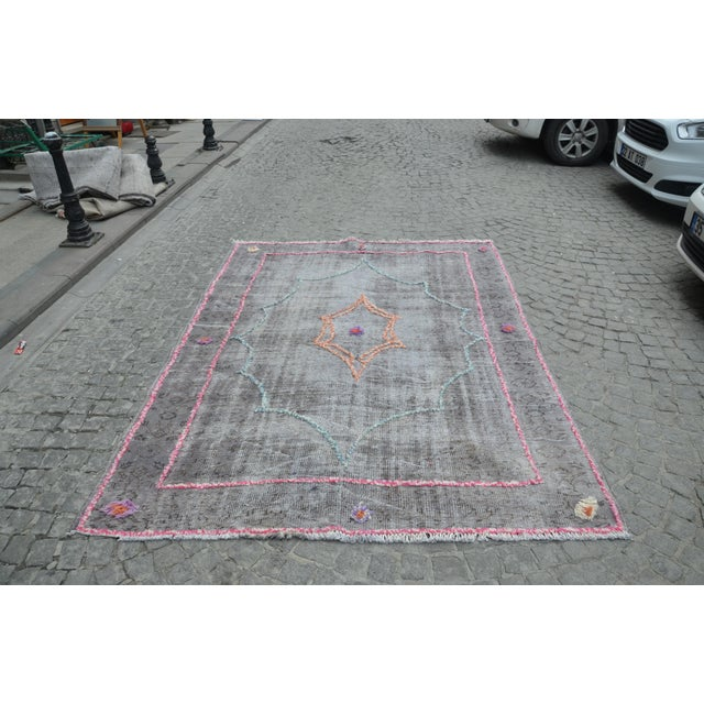 Turkish Anatolian Pompom Rug - 6′3″ × 9′ - Image 3 of 7