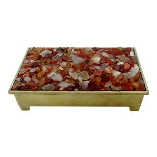 Brass & Crushed Glass Box
