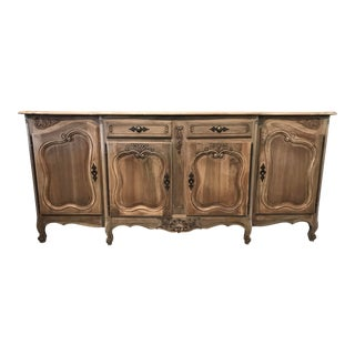 Louis XV Washed Walnut Enfilade For Sale