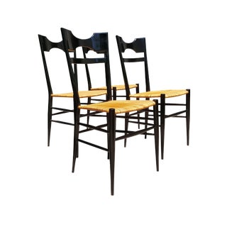 1950s Mid-Century Modern Chiavari Dining Chairs - Set of 4 For Sale