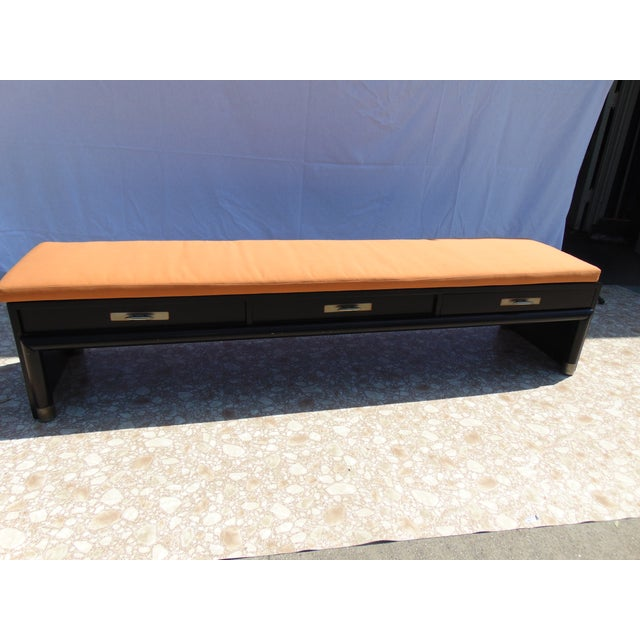 3-Drawer Coffee Table/Bench With Cushion - Image 2 of 11