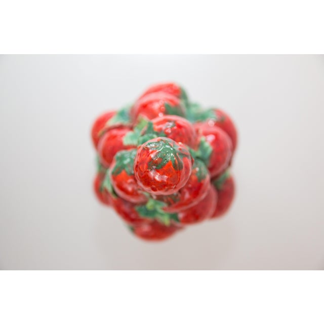 Vintage Italian Majolica Strawberry Topiary For Sale - Image 4 of 7
