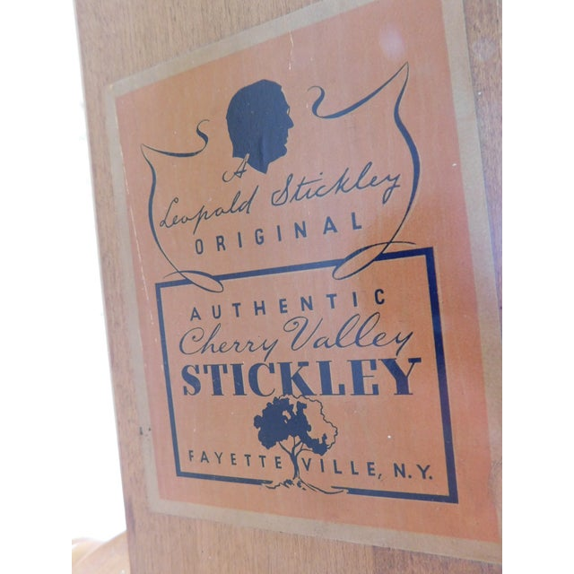 Burnt Umber L & J G Stickley Cherry Valley Chippendale Style Full Size Poster Bed For Sale - Image 8 of 10