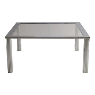 Pace Style Chrome Cocktail Table For Sale