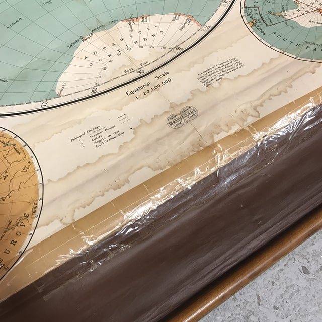 1910s Antique Nystrom Pull Down Maps in Case - Set of 4 For Sale - Image 5 of 13