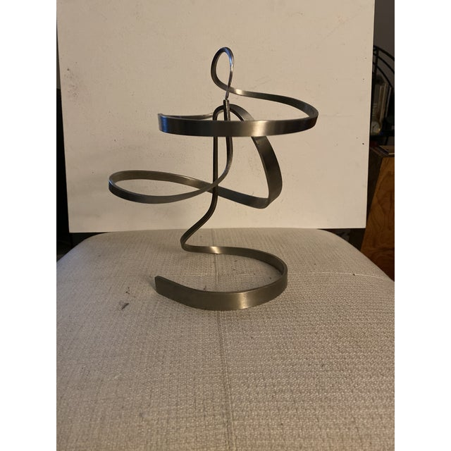 Micheal Cutler Aluminum kinetic standing sculpture