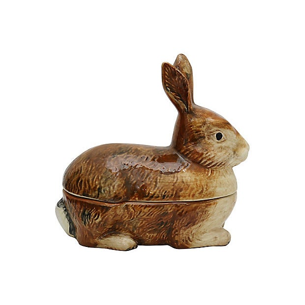 Cottage French Majolica Rabbit Pâté Tureen For Sale - Image 3 of 6