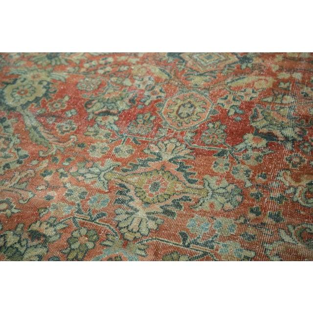 "Vintage Distressed Mahal Carpet - 10'8"" x 13'8"" - Image 5 of 10"