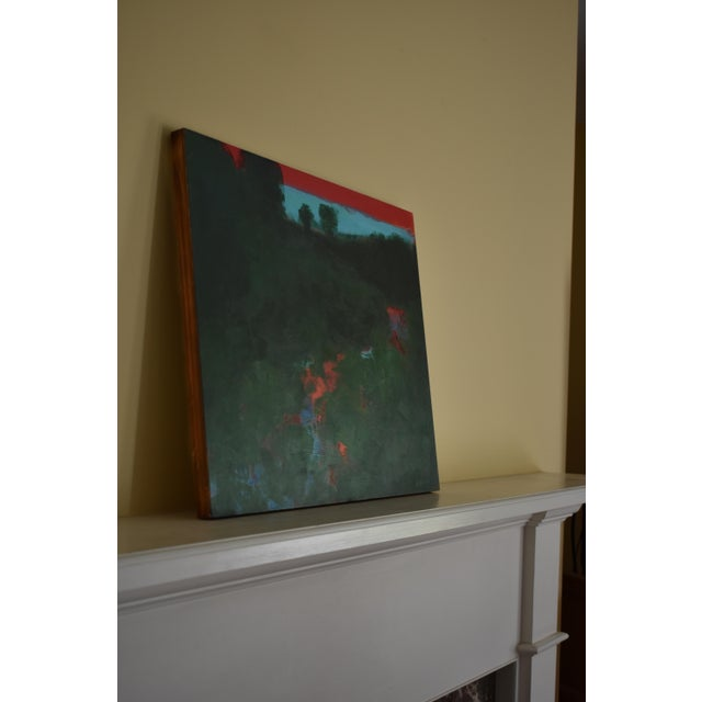 "Wood Contemporary Abstract Painting, ""Sunset Over the Mad River"" by Stephen Remick For Sale - Image 7 of 10"