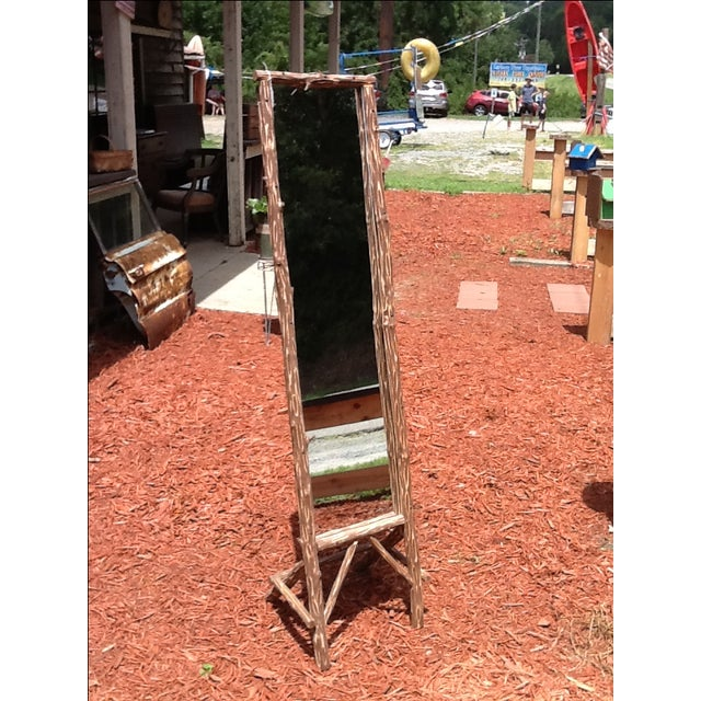 Rustic Standing Mirror - Image 2 of 7
