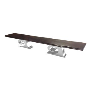 Wave Live Edge Conference Table For Sale
