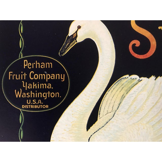 1930s Vintage Swan Brand Apple Fruit Crate Label - Image 5 of 6