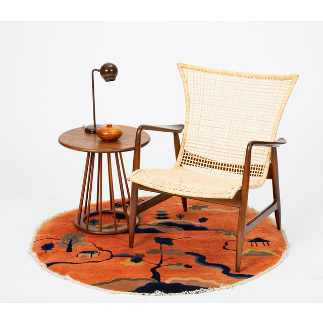 Lounge Chair With Cane Seat by Ib Kofod-Larsen for Selig For Sale - Image 12 of 13