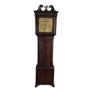 Antique English Georgian Era Grandfather Clock For Sale