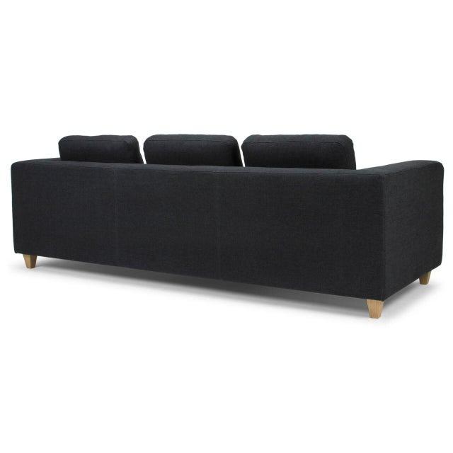 Sarreid LTD Modern Black Sofa - Image 4 of 5