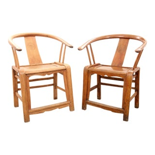 1960s Chinese Oxbow Chairs- a Pair For Sale