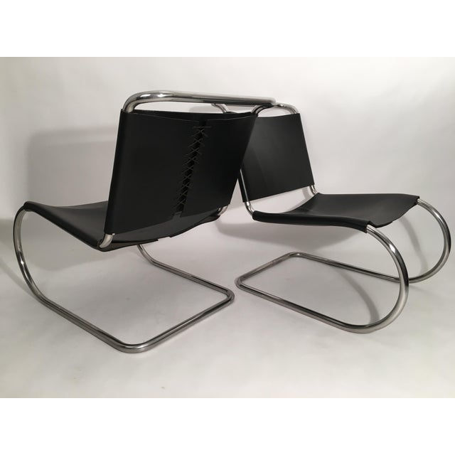 Pair of Mies Van der Rohe MR Lounge Chairs For Sale In New York - Image 6 of 7