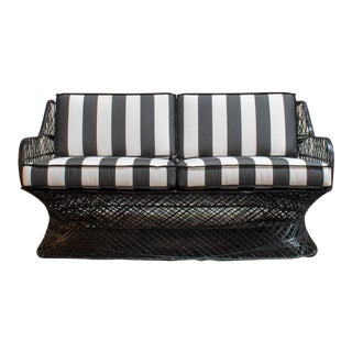 Vintage Mid-Century Russell Woodard Spun Fiberglass Patio Sofa For Sale