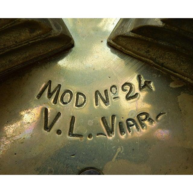 1950s V.L. Viar Bronze & Glass Coffee Table - Image 7 of 8
