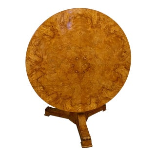 Charles X Period Blond Walnut Tilt Top Table For Sale