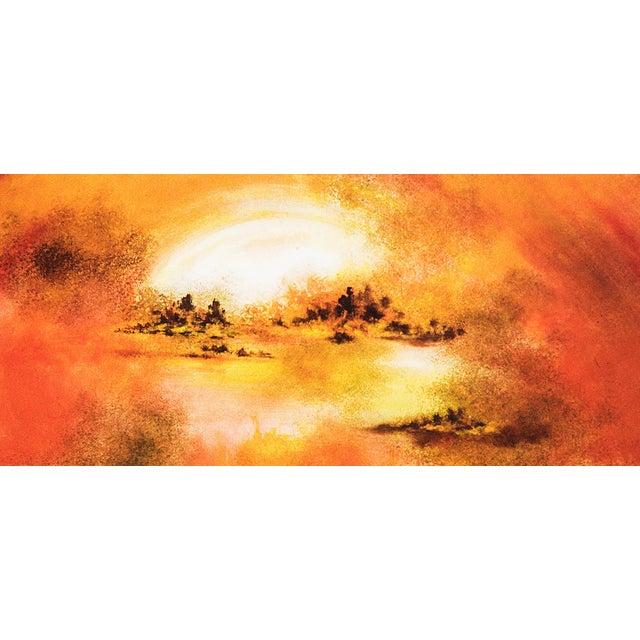 Hiroshi Honda, Sunset Oil Painting - Image 2 of 2