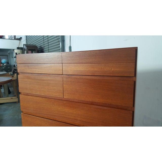 Brown 1950s Vintage Arne Wahl Iversen for Vinde Mobelfabrik Teak Dresser For Sale - Image 8 of 12