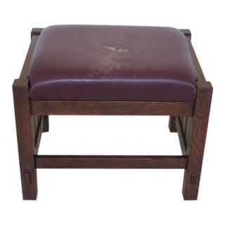 Stickley Mission Oak Arts & Crafts Footstool For Sale