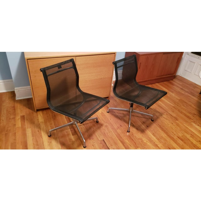 Charles and Ray Eames 1990s Vintage Herman Miller Eames Office Chairs- A Pair For Sale - Image 4 of 4