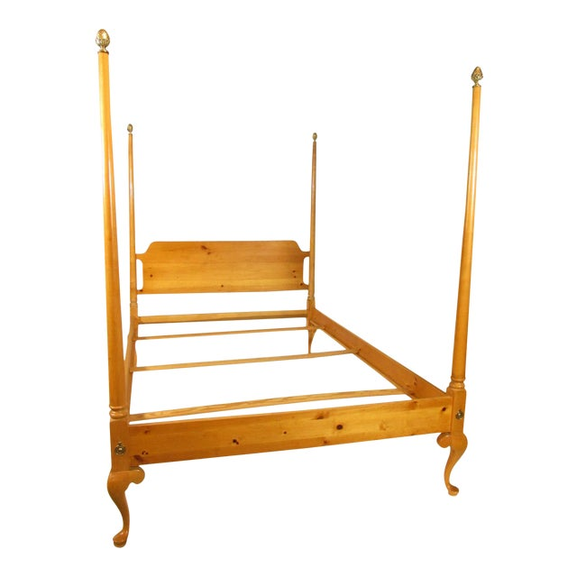 1980s Colonial Style Four Poster Bed For Sale