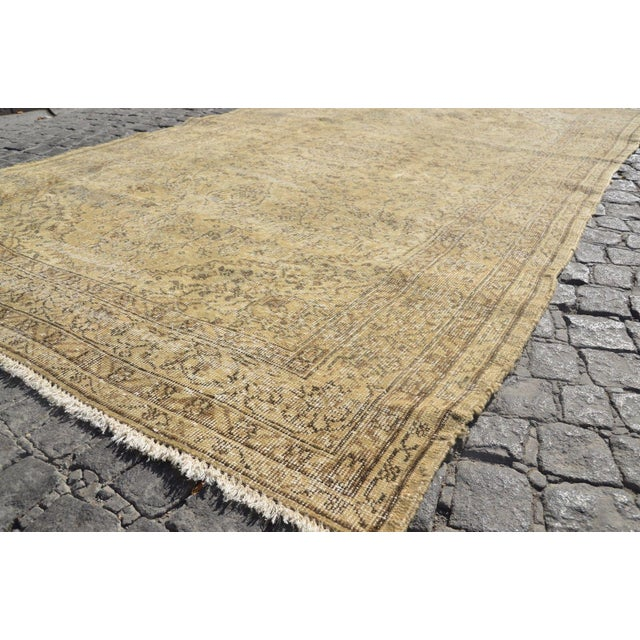 Distressed Turkish Rug - 3′9″ × 9′2″ For Sale - Image 5 of 6
