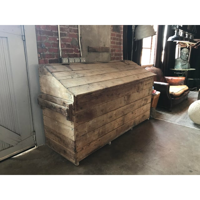 French Country Firewood Box For Sale - Image 4 of 4