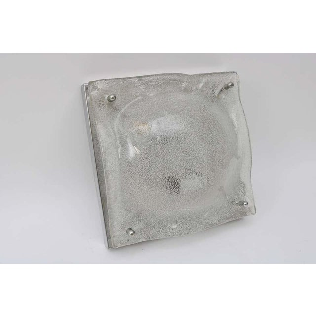 Transparent Mid-Century Modern Mazzega Murano Glass Square Sconces - a Pair For Sale - Image 8 of 13