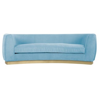 St. Germain Sofa in Capri Blue Velvet For Sale