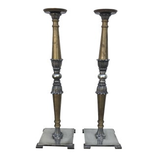 Vintage Indian Candlesticks - a Pair For Sale