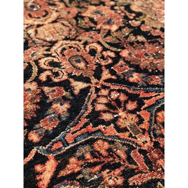 """Blue 1960s Persian Malayer Wool Runner - 3'5""""x19'4"""" For Sale - Image 8 of 13"""