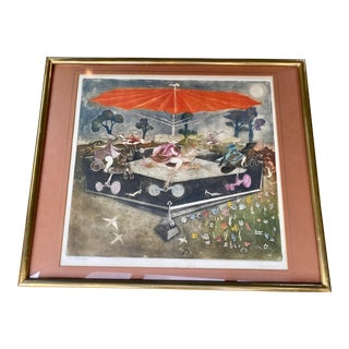 Guillermo Silva Hand Colored Etching Signed Dated & Numbered For Sale
