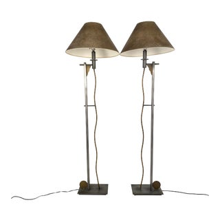 Robert Sonneman for Kovacs Memphis Post-Modern Floor Lamps - a Pair For Sale