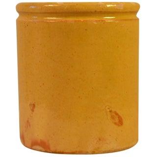 20th Century Enameled Terracotta Pot For Sale