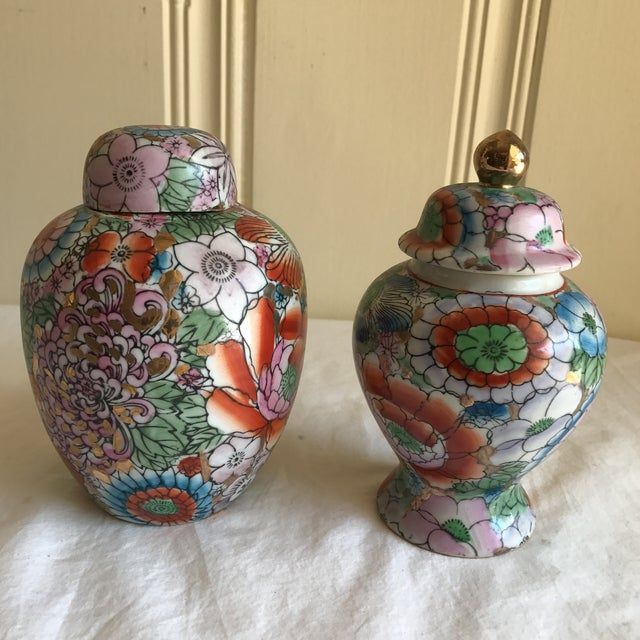 Chinoiserie Ceramic Ginger Jars - A Pair - Image 2 of 8
