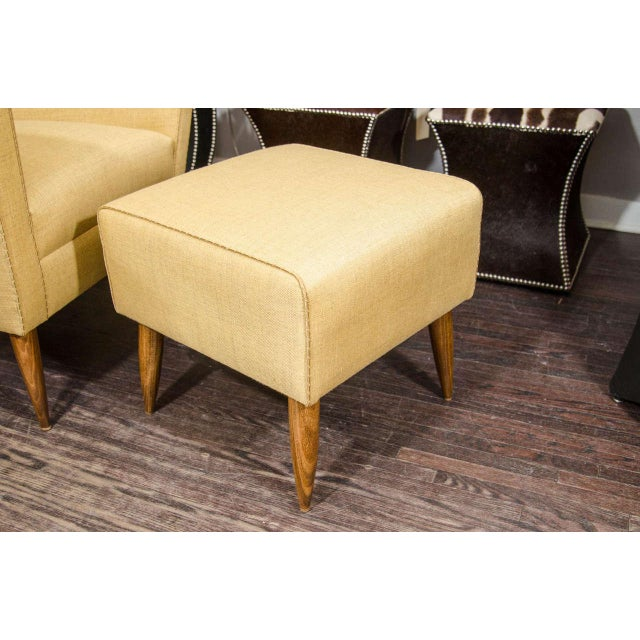 Custom Modernist Armchair and Ottoman For Sale - Image 9 of 10