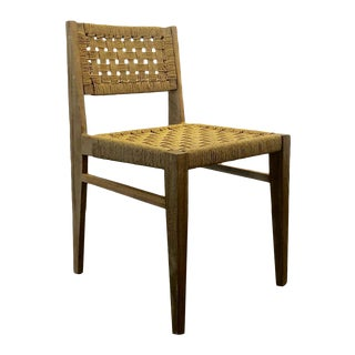 The J Woven Dining Chair in Danish Paper Cord by Atra For Sale