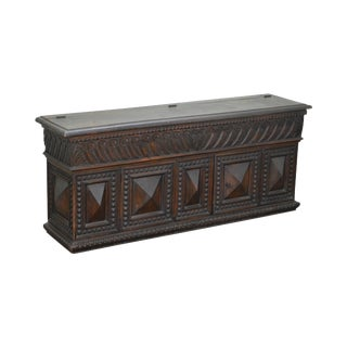 Antique 19th Century Renaissance Carved Lidded Seat Storage Chest