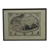 "Image of 1482 Framed ""Ptolemaeus"" Map of the World For Sale"