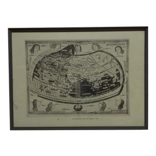 "1482 Framed ""Ptolemaeus"" Map of the World For Sale"