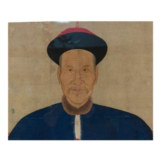 Chinese Watercolor Scrolls of Ancestor Portrait For Sale