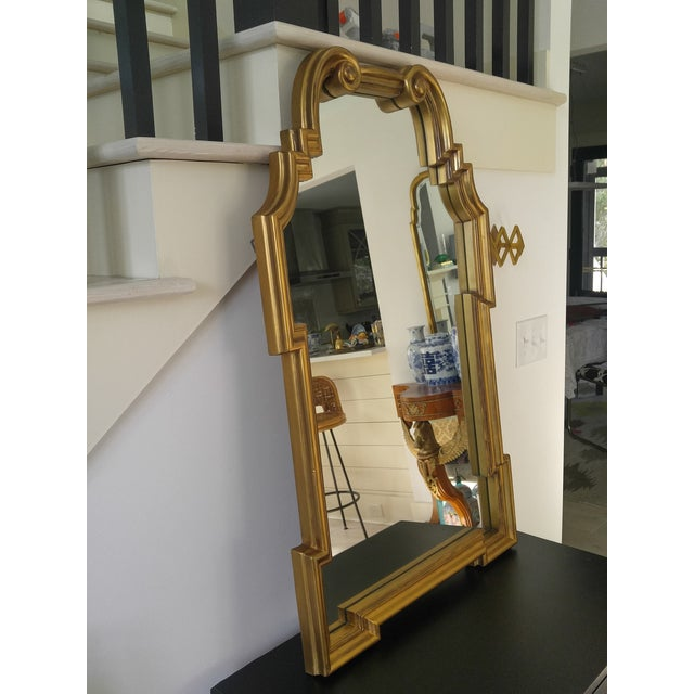 Asian Hollywood Regency La Barge Style Mirror For Sale - Image 3 of 9