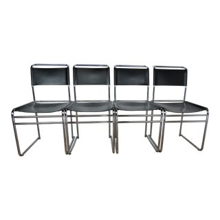 Vintage Mid Century Bauhaus Designer and Architect Marcel Breuer B5 Chairs - Set of 4 For Sale