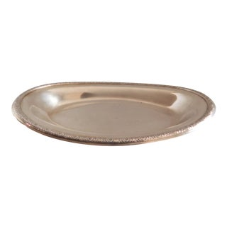 International Sterling Silver Prelude Oval Bread Dish Tray For Sale