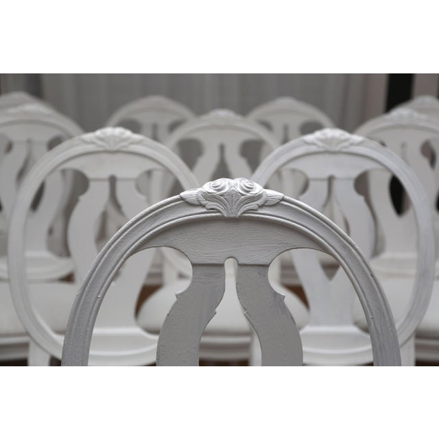 1900s Vintage Swedish Gustavian Style Dining Chair (16 Available) For Sale - Image 9 of 10