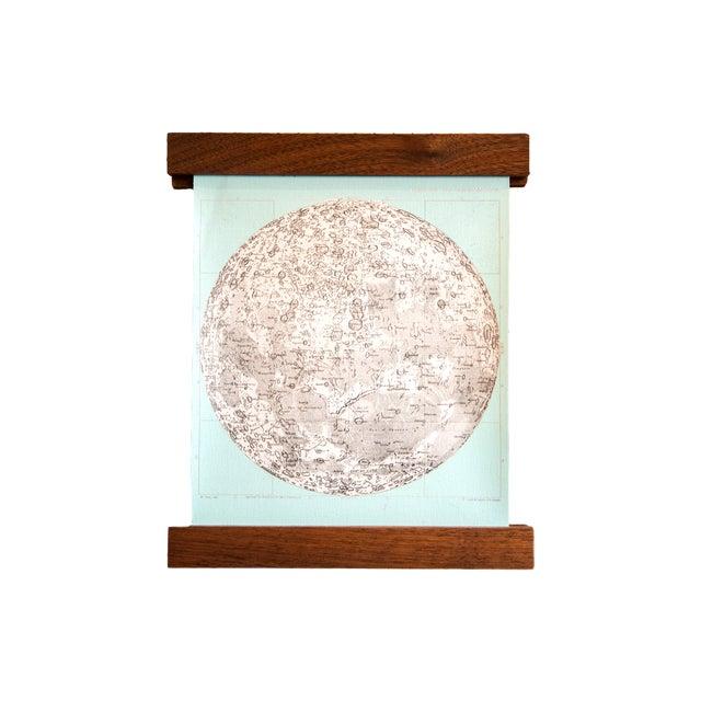 Aqua Mini Moon Chart Art Print - Image 1 of 6